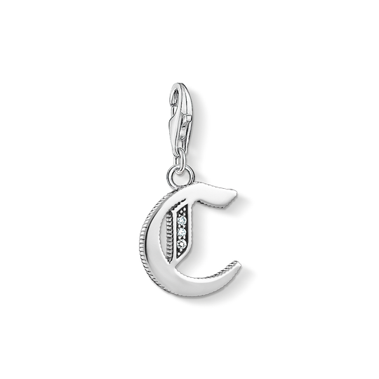 Charm pendant letter C silver from the Charm Club collection in the THOMAS SABO online store