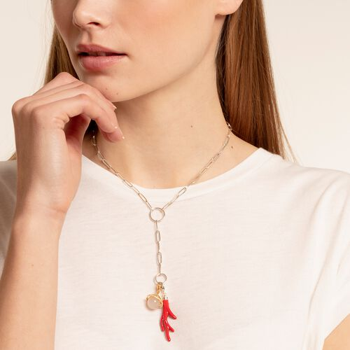 "Charm pendant ""red coral"" from the  collection in the THOMAS SABO online store"