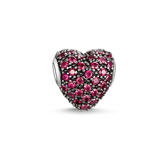"Bead ""cuore con pavé rosso"" from the Karma Beads collection in the THOMAS SABO online store"
