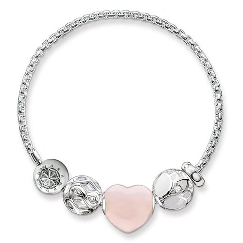 "bracelet ""pink heart"" from the Karma Beads collection in the THOMAS SABO online store"