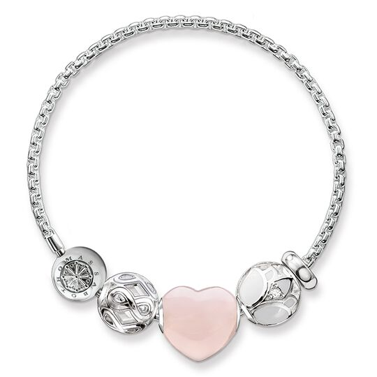 """pulsera """"corazón rosa"""" de la colección Karma Beads en la tienda online de THOMAS SABO"""