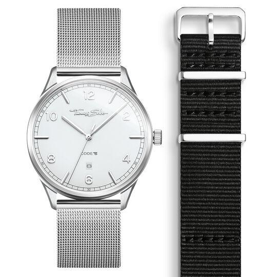 SET CODE TS vit klocka & svart armband ur kollektionen  i THOMAS SABO:s onlineshop