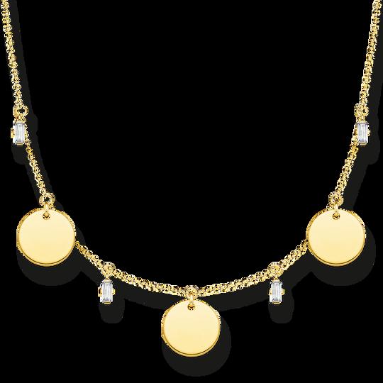 Collier mit drei Coins und weißen Steinen gold aus der Glam & Soul Kollektion im Online Shop von THOMAS SABO