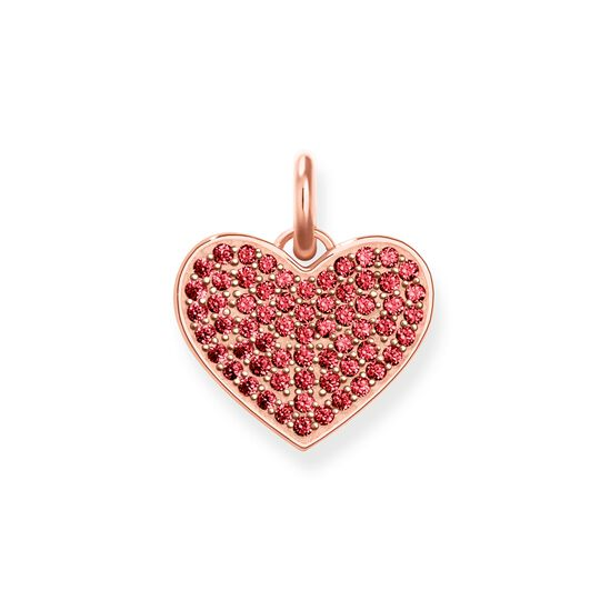 pendant red heart pavé from the Love Bridge collection in the THOMAS SABO online store