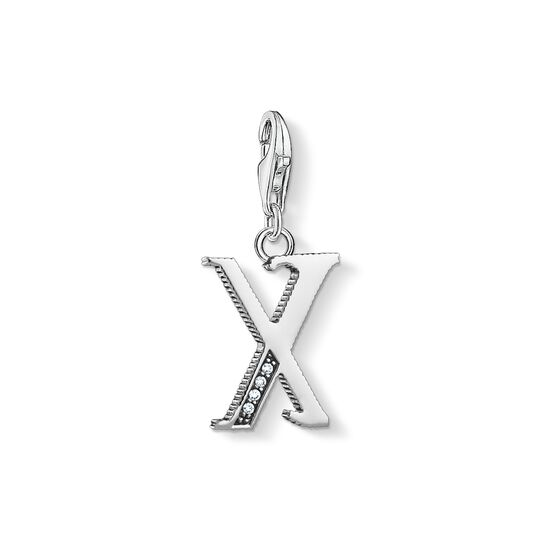 Charm pendant letter X silver from the Charm Club collection in the THOMAS SABO online store