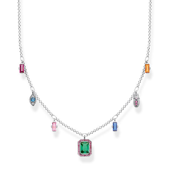 necklace Colourful lucky symbols, silver from the  collection in the THOMAS SABO online store