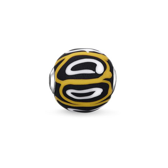 Bead Glass Bead Yellow, white, black from the Karma Beads collection in the THOMAS SABO online store