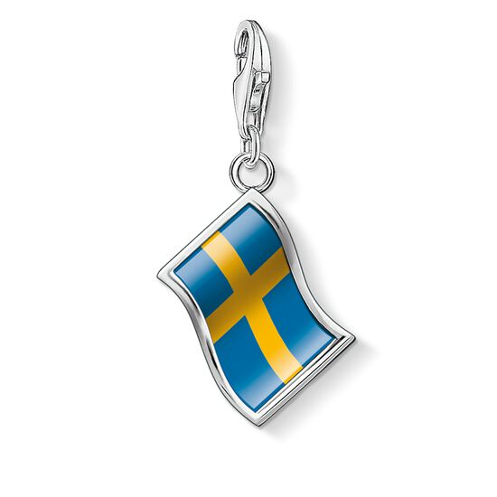"Charm pendant ""flag Sweden"" from the  collection in the THOMAS SABO online store"
