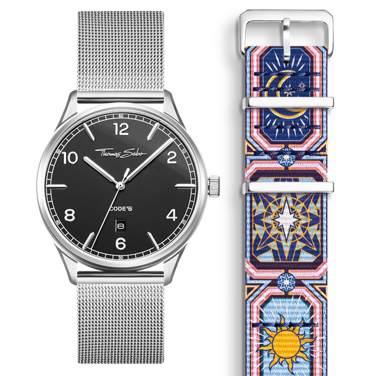 SET CODE TS black watch & bracelet Colourful night sky from the  collection in the THOMAS SABO online store