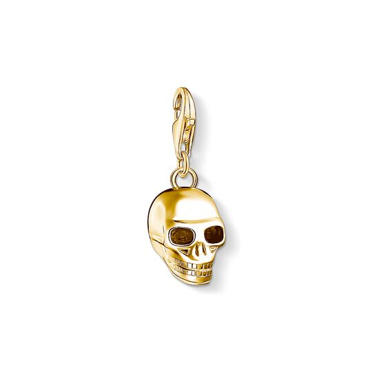 Charm pendant skull gold from the Charm Club collection in the THOMAS SABO online store