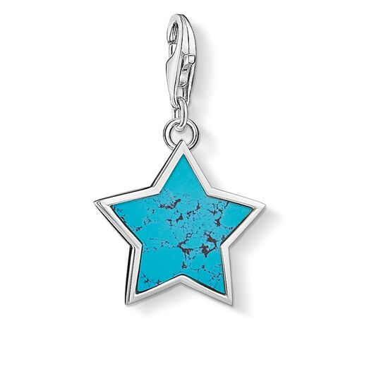 Charm pendant Turquoise star from the  collection in the THOMAS SABO online store