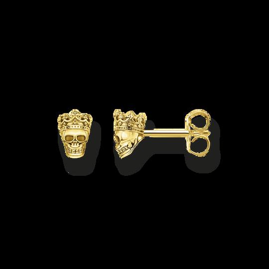 Clous d'oreilles tête de mort roi or de la collection Rebel at heart dans la boutique en ligne de THOMAS SABO