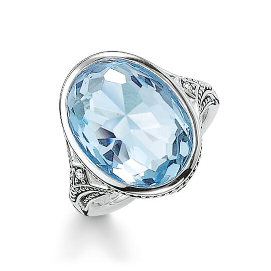 cocktail ring light blue from the Glam & Soul collection in the THOMAS SABO online store