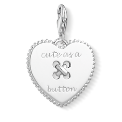Charm pendant Heart - Cute as a Button from the Charm Club Collection collection in the THOMAS SABO online store