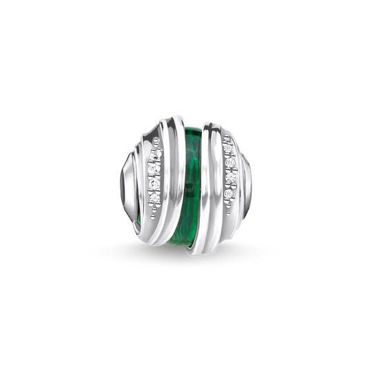 bead leaves malachite silver from the Karma Beads collection in the THOMAS SABO online store