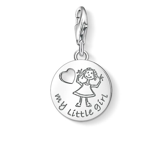 "Charm pendant ""MY LITTLE GIRL"" from the  collection in the THOMAS SABO online store"