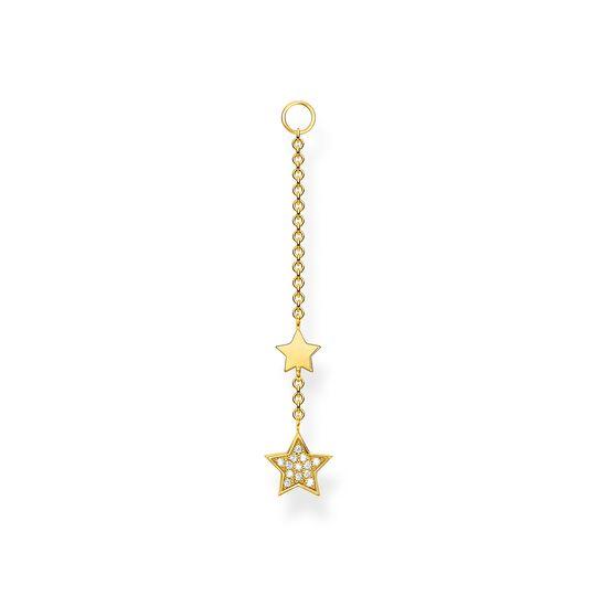 Einzel Ohrring Anhänger Sterne gold aus der Charming Collection Kollektion im Online Shop von THOMAS SABO