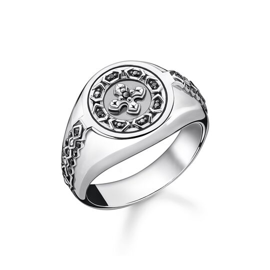Ring cross black stones from the  collection in the THOMAS SABO online store
