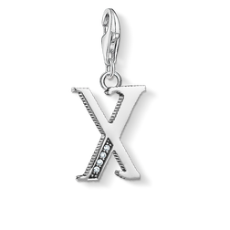 Charm pendant letter X silver from the Charm Club Collection collection in the THOMAS SABO online store