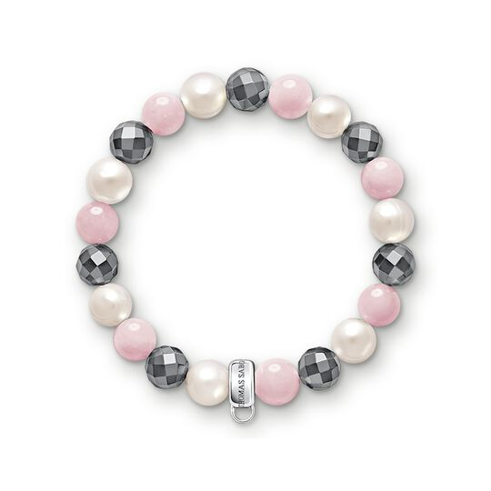 Charm bracelet pink, white, grey from the Charm Club collection in the THOMAS SABO online store