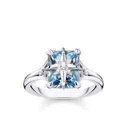 ring blue stone with star from the Glam & Soul collection in the THOMAS SABO online store
