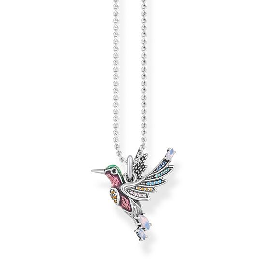 necklace colourful hummingbird silver from the Glam & Soul collection in the THOMAS SABO online store