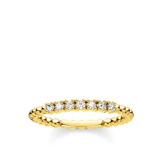 Ring dots with white stones gold from the Charming Collection collection in the THOMAS SABO online store