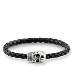 leather bracelet skull from the Rebel at heart collection in the THOMAS SABO online store