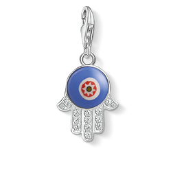 Charm pendant blue glass Hand of Fatima from the Charm Club Collection collection in the THOMAS SABO online store