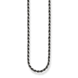 "rope chain ""blackened"" from the Glam & Soul collection in the THOMAS SABO online store"