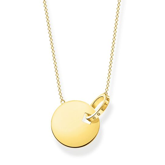 necklace Together coin with gold-coloured ring from the Glam & Soul collection in the THOMAS SABO online store