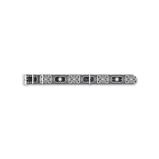 Watch strap CODE TS NATO, black night sky from the  collection in the THOMAS SABO online store