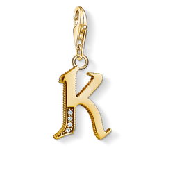 Charm pendant letter K gold from the Charm Club Collection collection in the THOMAS SABO online store