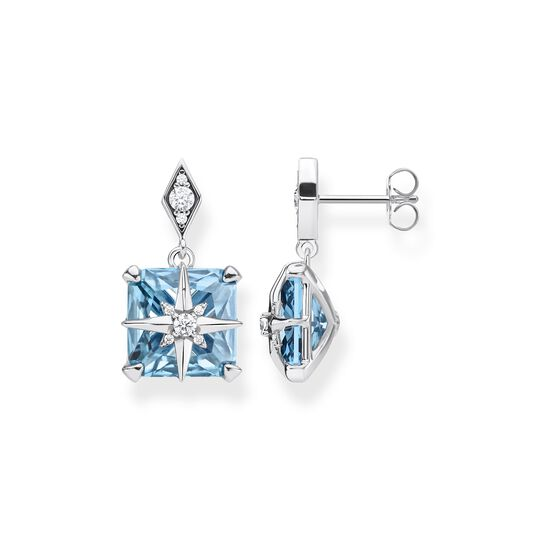 ear studs Blue stone with star from the  collection in the THOMAS SABO online store