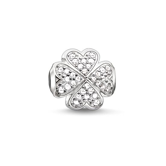 "Bead ""white cloverleaf"" from the Karma Beads collection in the THOMAS SABO online store"