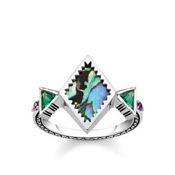 """ring """"zig zag abalone mother-of-pearl"""" from the Glam & Soul collection in the THOMAS SABO online store"""
