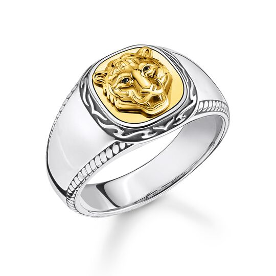 ring tiger gold from the Rebel at heart collection in the THOMAS SABO online store