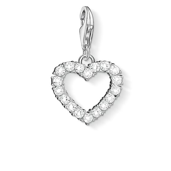 "ciondolo Charm ""Cuore romantico"" from the  collection in the THOMAS SABO online store"