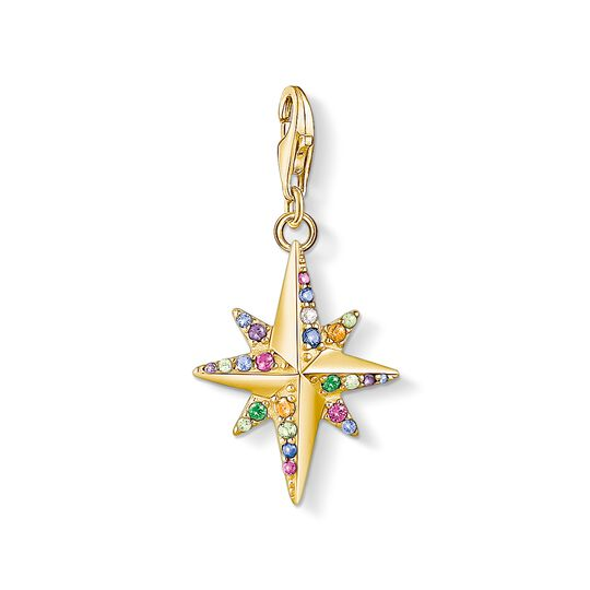 Charm pendant Colourful star, gold from the Charm Club collection in the THOMAS SABO online store