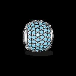 """Bead """"pavé turquesa"""" de la colección Glam & Soul en la tienda online de THOMAS SABO"""
