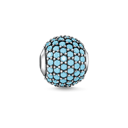 "Bead ""pavé turquoise"" from the Glam & Soul collection in the THOMAS SABO online store"