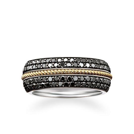 anillo alianza diamantes negros de la colección Rebel at heart en la tienda online de THOMAS SABO