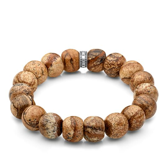 """bracciale """"Power Bracelet marrone, beige"""" from the Rebel at heart collection in the THOMAS SABO online store"""