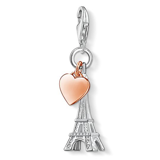 Charm pendant Eiffel Tower with heart from the  collection in the THOMAS SABO online store