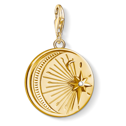 "Charm pendant ""Vintage MOON and STAR"" from the Charm Club Collection collection in the THOMAS SABO online store"