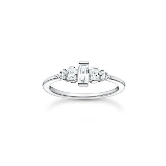 Ring vintage white stones silver from the Charming Collection collection in the THOMAS SABO online store