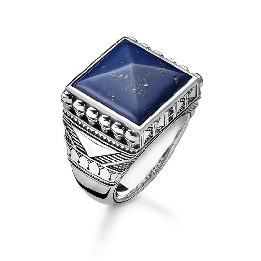 "Ring ""Ethno Totenköpfe blau"" aus der Rebel at heart Kollektion im Online Shop von THOMAS SABO"