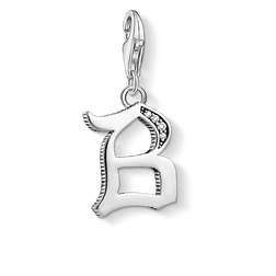 Charm pendant letter B silver from the Charm Club Collection collection in the THOMAS SABO online store