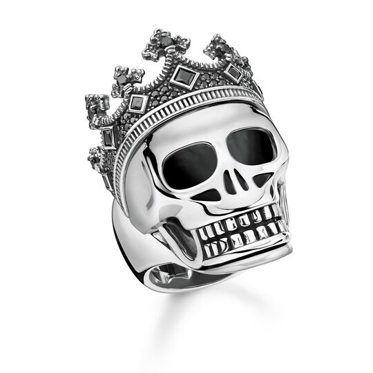 "ring ""Skull crown"" from the Rebel at heart collection in the THOMAS SABO online store"