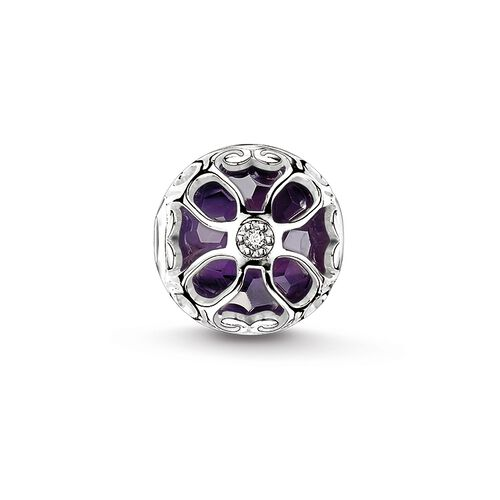 "Bead ""purple lotus flower"" from the Karma Beads collection in the THOMAS SABO online store"
